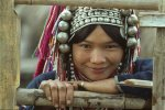 Akha woman's traditional headdress