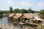 Floating restaurants - Kanchanaburi