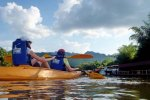 Kayak on the river Kwai Yai
